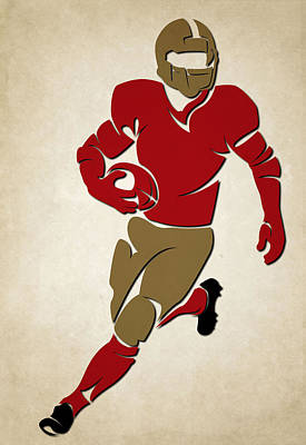 49ers Shadow Player Art Print by Joe Hamilton
