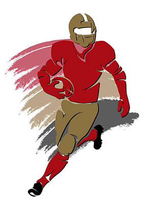 49ers Shadow Player2 Art Print by Joe Hamilton