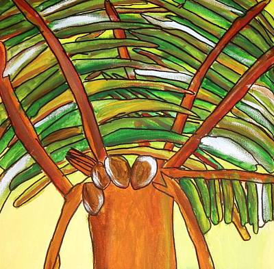 Drucker Painting - 4coconuts by Artists With Autism Inc