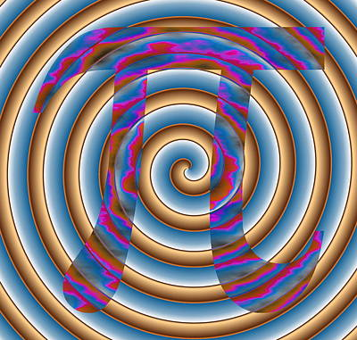 Pi Digital Art - 4Pi by Ron Hedges