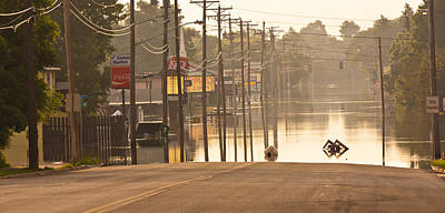 Souris Photograph - 4th Ave Flood by Wayne Vedvig