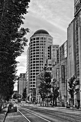 Seattle Photograph - 4th Avenue - Downtown Seattle Washington by David Patterson