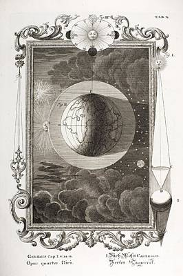 4th Day Of Creation, Scheuchzer, 1731 Art Print