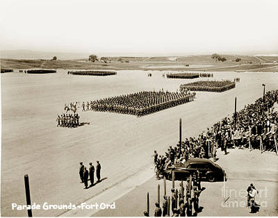 Photograph - 4th Inf. Div Fort Ord Army Base Monterey California July 15 1947 by California Views Mr Pat Hathaway Archives
