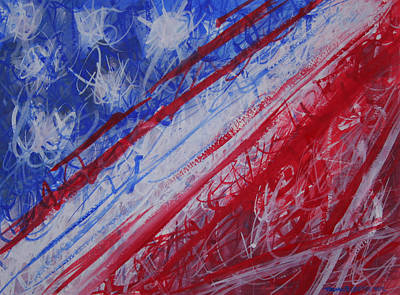 4th July Abstract Expressionism Art Print by Thomas Griffith