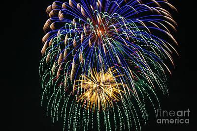 4th Of July 2014 Fireworks Mannington Wv 1 Art Print by Howard Tenke
