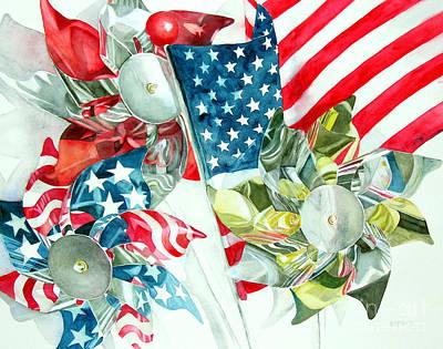 4th Of July Art Print by Elizabeth  McRorie