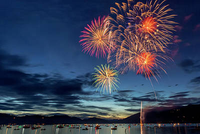 Whitefish Photograph - 4th Of July Fireworks Celebration by Chuck Haney