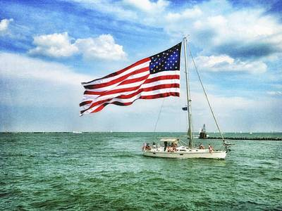 Art Print featuring the photograph 4th Of July - Navy Pier - Downtown Chicago by Photography  By Sai