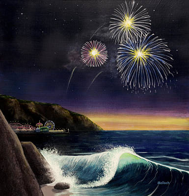 4th Of July Painting - 4th On The Shore by Jack Malloch