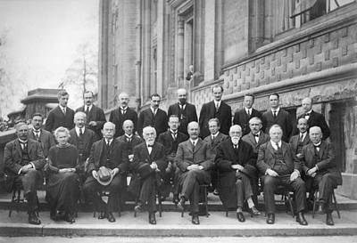 4th Solvay Conference On Physics, 1922 Art Print