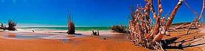 Photograph - 4x1 Florida Beach Panorama 732 by Rolf Bertram