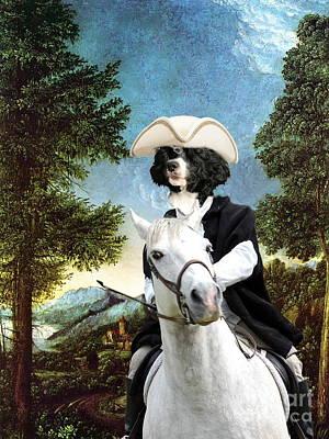 Portuguese Water Dog - Cao De Agua Portugues Art Canvas Print Art Print by Sandra Sij