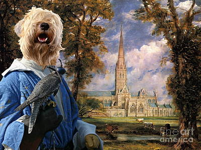 Soft Coated Wheaten Terrier Painting -  Soft Coated Wheaten Terrier Art Canvas Print by Sandra Sij