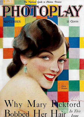 Gloria Drawing - 1920s Usa Photoplay Magazine Cover by The Advertising Archives