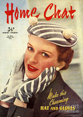 1950s Uk Home Chat Magazine Cover Art Print by The Advertising Archives