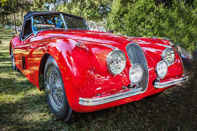 Photograph - 1954 Jaguar Xk 120 Se Ots  by Rich Franco