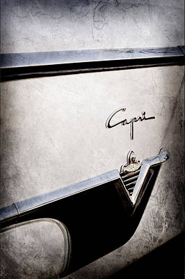 Lincoln Photograph - 1954 Lincoln Capri Convertible Emblem by Jill Reger