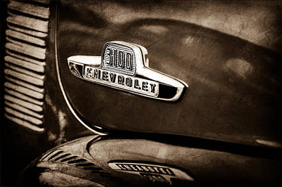 1955 Chevrolet 3100 Pickup Truck Emblem Art Print