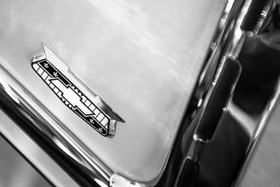 Chevy Bel Air Photograph - 1955 Chevrolet Belair Emblem by Jill Reger