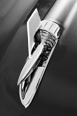 1957 Chevrolet Belair Hood Ornament Art Print by Jill Reger