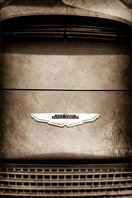 1969 Photograph - 1959 Aston Martin Db4 Gt Hood Emblem by Jill Reger