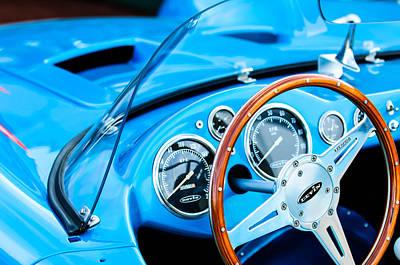 1959 Devin Ss Steering Wheel Art Print by Jill Reger