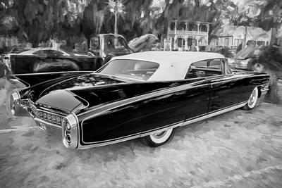 1960 Cadillac Eldorado Biarritz Convertible Painted Bw  Art Print by Rich Franco