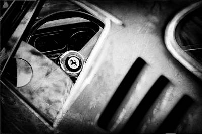 Photograph - 1966 Ferrari 275 Gtb Steering Wheel Emblem by Jill Reger