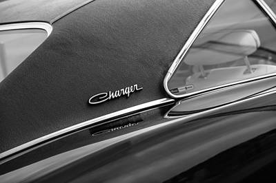 Photograph - 1969 Dodge Charger R-t Side Emblem by Jill Reger