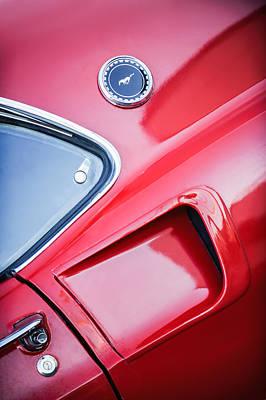 1969 Ford Mustang Mach 1 Side Emblem Art Print