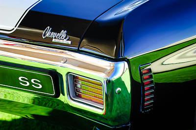 Photograph - 1970 Chevrolet Chevelle Ss Taillight Emblem by Jill Reger