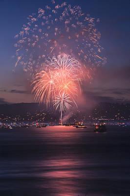 2014 4th Of July Firework Celebration.  Art Print by Jason  Choy