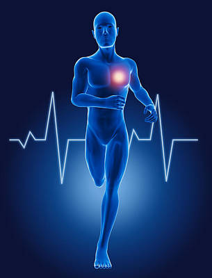 3d Running Medical Man Original by Kirsty Pargeter