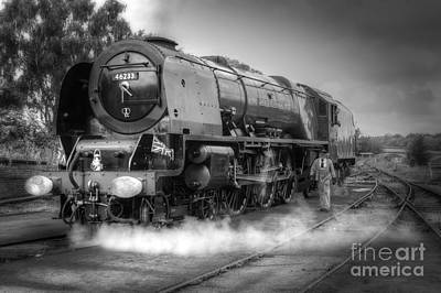 Comedian Drawings - 46233 Duchess Of Sutherland by David Birchall