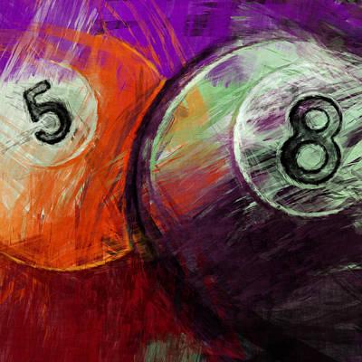 Rail Digital Art - 5 8 Billiards by David G Paul