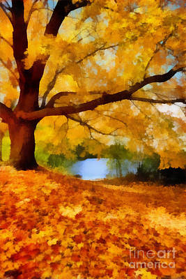 A Blanket Of Fall Colors Art Print