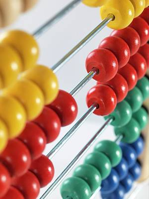 Accountancy Photograph - Abacus by Tek Image