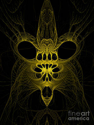Abstract Artistic Scary Creature Print by Indian Summer