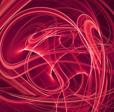 Artistic Photograph - Abstract In Red by Modern Art Prints