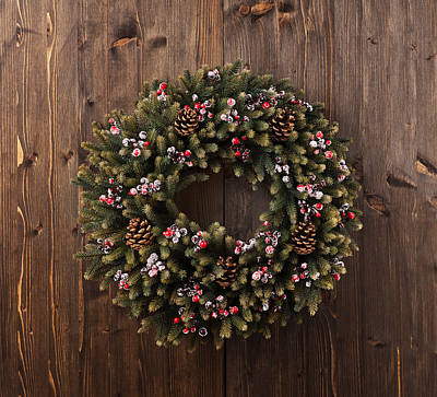 Photograph - Advent Christmas Wreath Decoration by Ulrich Schade