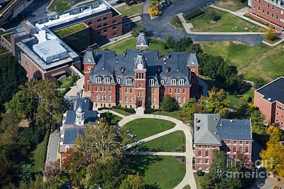 aerials of WVVU campus Art Print by Dan Friend