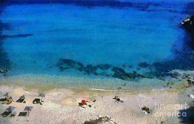 Painting - Agrari Beach by George Atsametakis