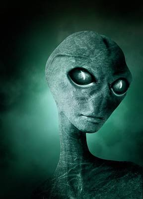 Alien Eyes Photograph - Alien by Victor Habbick Visions
