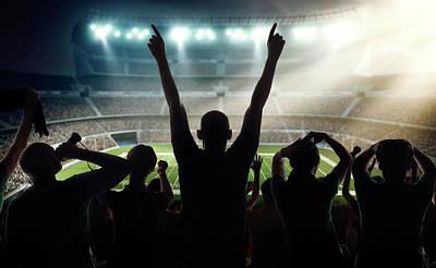 American Football Fans At Stadium Art Print by Dmytro Aksonov
