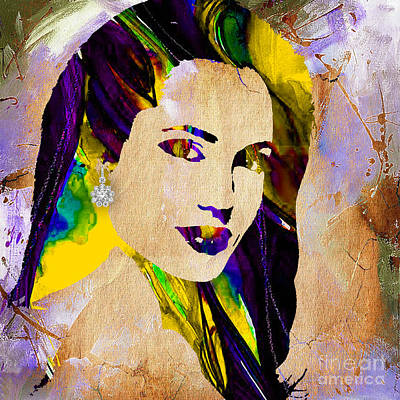 Movie Stars Mixed Media - Angelina Jolie Collection by Marvin Blaine