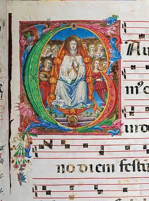 Seraphim Angel Photograph - Anonymous Sienese Painter, Proprio Dei by Everett