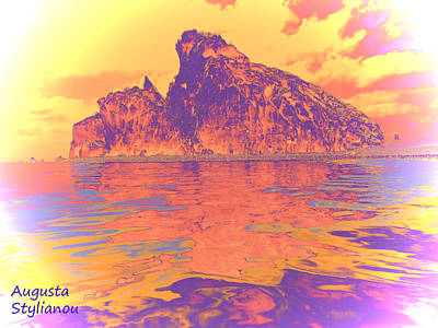 Petra Digital Art - Aphrodite's Birth Place by Augusta Stylianou