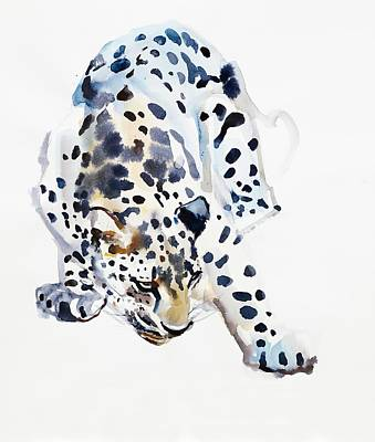 Sniffing Painting - Arabian Leopard by Mark Adlington