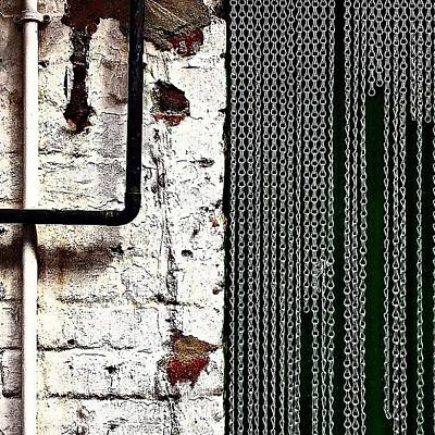 Abstract Wall Art - Photograph - Chain Door by Jason Michael Roust
